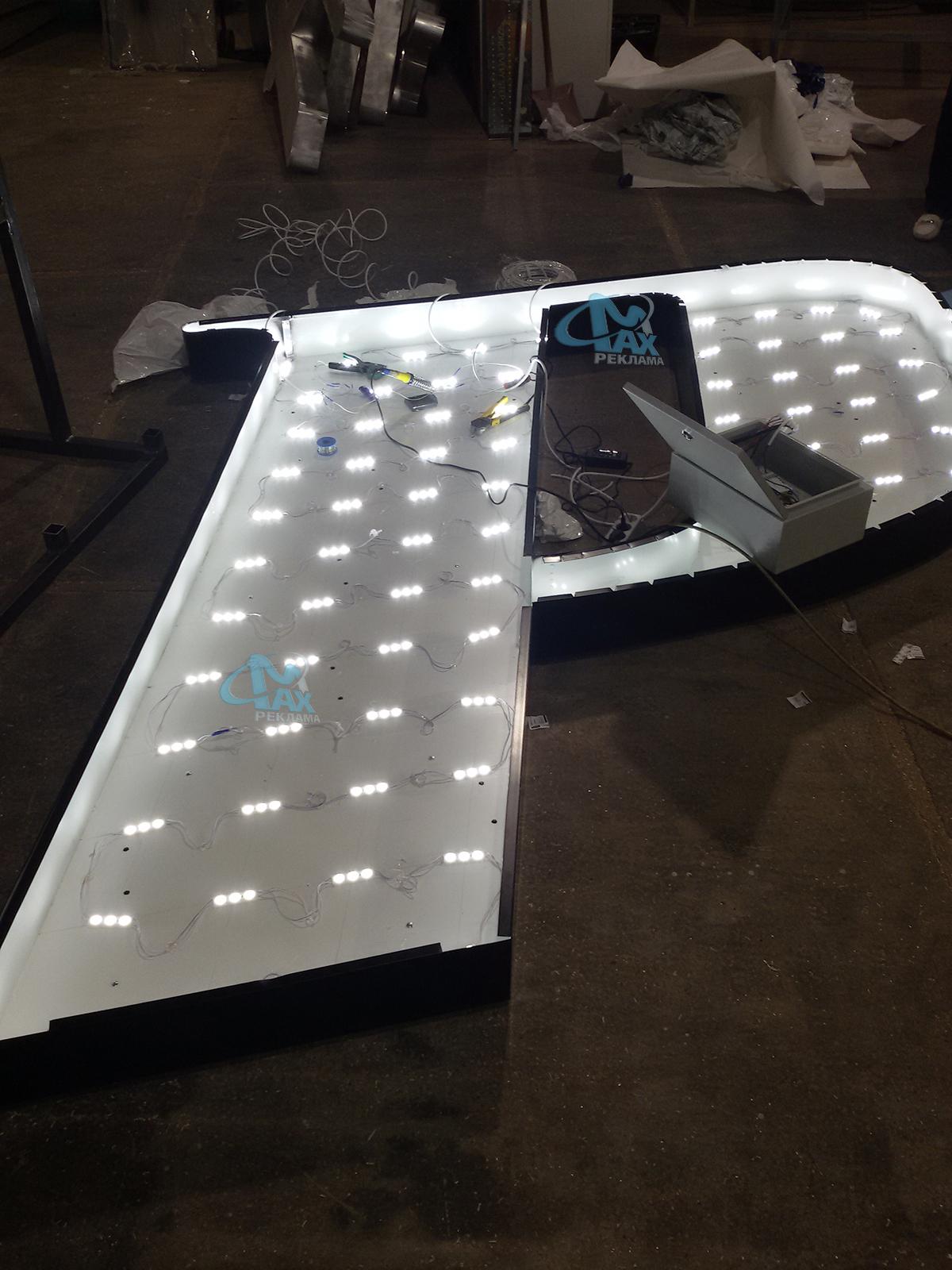 светещи букви с LED осветлемие